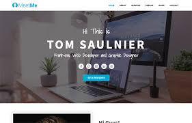 Resume Website Best MeetMe Free HTML Resume Website Template