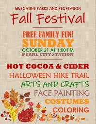Fall Festival Flier Muscatine Parks Recs Fall Festival Muscatine Community