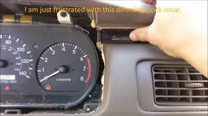 1997 Toyota Camry Dashboard Lights Toyota Camry 1999 Clock Repair Reseat Dash Clock Fell Out Of The Mount Clock Dimming Issue
