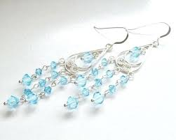 full size of light blue chandelier simple earrings teal crystal crystals sterling by lighting swarovski baby
