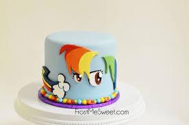 <b>My little pony</b> Rainbow Dash girl girls birthday cake by Frost Me Sweet