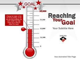 Fundraising Goal Chart Animated Goal Chart Template For Powerpoint
