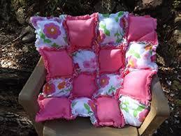 Amazon.com: Fleece Puff Rag Quilt, Biscuit Quilt, Crib or Cradle ... & Fleece Puff Rag Quilt, Biscuit Quilt, Crib or Cradle Puff Quilt - Pink and Adamdwight.com