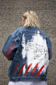 Designer Jean Jacket Denim Series Diy Fashion Street Style Fashion