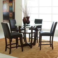 glass dining room table sets. Dining-round-4chairs Glass Dining Room Table Sets S