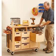 Workshop Cabinets Diy Wheel Easy Shop In A Box Woodworking Plan Workshop Jigs Shop