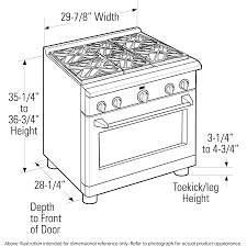 standard stove width. Unique Width Dimensional Diagramge Monogram 30 All Gas Professional Range With Standard Stove Width