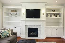 inspiring fireplace built in cabinets