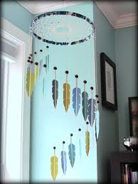 dream catcher mobile paint swatch mobile paint chip mobile feather mobile modern