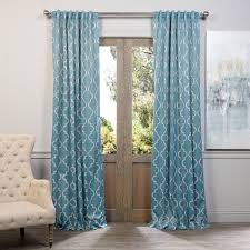 exclusive fabrics furnishings seville dusty teal blackout curtain 50 in w x 108