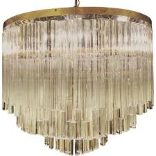italian brass and crystal chandelier 1970s