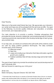 Letter To Parents For Child Care Term Paper Sample 1658 Words
