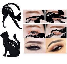details about 2pcs cat line eyeliner stencils cat eyes shaper eye shadow tool makeup template