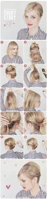 short hair updo idea hairstyles tutorials