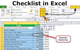 Create Checklist In Excel Checklist In Excel How To Create Checklist In Excel Using Checkbox