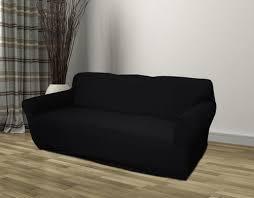 black furniture covers. Kashi Home Stretch Jersey Sofa Slipcover - Black (K-SC020597) Furniture Covers