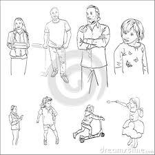 Disegni Della Gente Dei Bambini Del Maschio E Del Vettore
