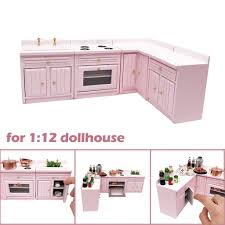 Kitchen Design 12 X 16 Us 11 73 26 Off Wooden 1 12 Doll House Miniature Furniture Wooden Kitchen Countertop Free Combination Packing Size 18 9x16 2x8cm In Furniture Toys