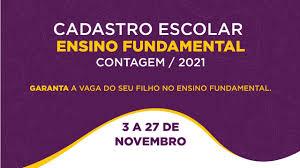 Estuda Contagem | » Cadastro Escolar 2021 para o Ensino Fundamental começa  nesta terça-feira (3/11)