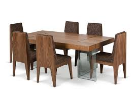 Aura Contemporary Walnut Floating Dining Table - Walnut dining room furniture