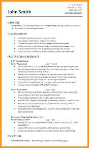 Sample Resume For Junior Accountant Awesome Resume Resume Templates