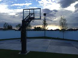 new ideas outdoor court lighting and home court photo als bryant pro dunk diamond