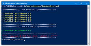 microsoft net framework is installed