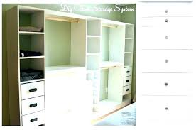 closet with drawers build closet drawers units