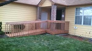 custom wood wheelchair ramp co accessible systems wooden curved furniture ramps for homes plans ada wheel handicap ramp designs this custom wood