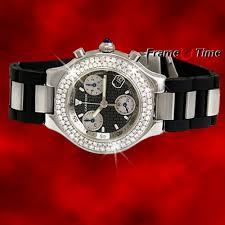 cartier men must 21 chronoscaph diamond chronograph rubber chrono cartier men must 21 chronoscaph diamond chronograph rubber chrono watch w10125u2