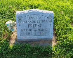 Eleanor Esther Freese (1931-1993) - Find A Grave Memorial