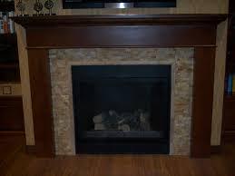 stone tile around fireplace