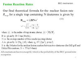 17 fusion reaction rates our final theoretical formula for the nuclear