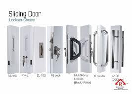 sliding door lock set reliance home