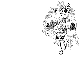 Christmas Coloring Pages for cards