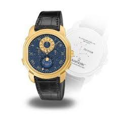 kronsegler zentaur calendar watch golden nightblue