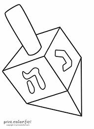 Small Picture Dreidel coloring page Print Color Fun