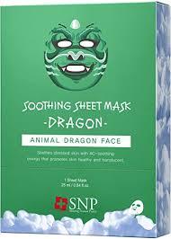 <b>SNP Dragon</b> Soothing <b>Animal</b> Mask *10ea: Amazon.co.uk: Beauty