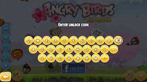 what this unlock code thing works in seasons?: angrybirds