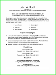Resume Template 9 College Student Templates Microsoft Word