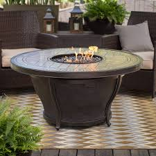 round fire pit table with free cover hayneedle