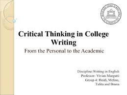 critical thinking in college writing