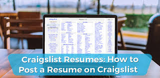 Craigslist Resumes How To Post A Resume On Craigslist