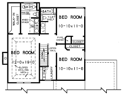 The Walton and Baths   The House Designers nd floor plan