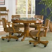 dining room table caster chairs. coaster home furnishings 100952 casual game chair, oak dining room table caster chairs