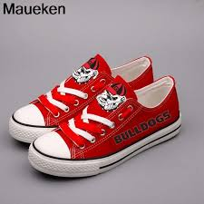 Diy shoes designs Sneaker New Design 2018 Men Women Unisex Fashion Diy Shoes For Georgia Bulldogs Red Fans Gift Size 3544 05064 Aliexpress New Design 2018 Men Women Unisex Fashion Diy Shoes For Georgia