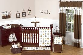 camo baby crib bedding nursery decoration for boys and girls brown owl set  boy collection with