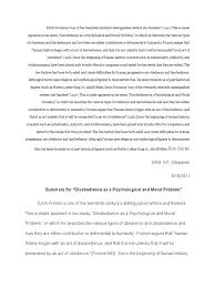 st paper summary of erich fromm essay docx obedience human 1st paper summary of erich fromm essay docx obedience human behavior civil disobedience