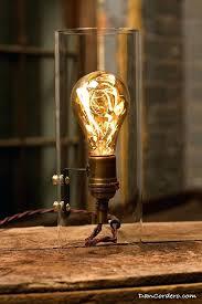 edison bulb lamp glass cylinder bulb gas flame table lamp roost lamp edison bulb lamp diy