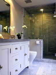 transitional bathroom ideas. Transitional Bathroom. I Love The Marble Floor Tiles With Limestone Counters. Gray And Bathroom Ideas